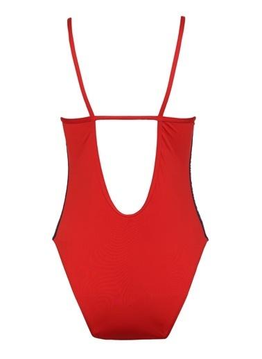 Tommy Hilfiger Kadın Cheeky One-Pıece Mayo UW0UW01432 Kırmızı